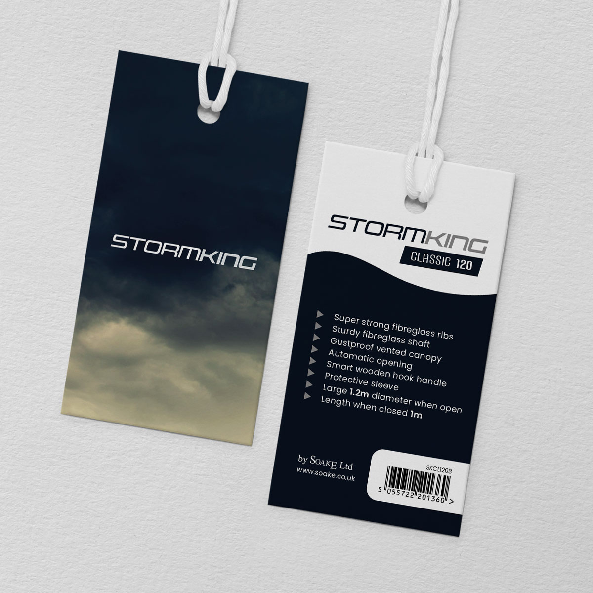 A couple of tag designs done for the Storm King products