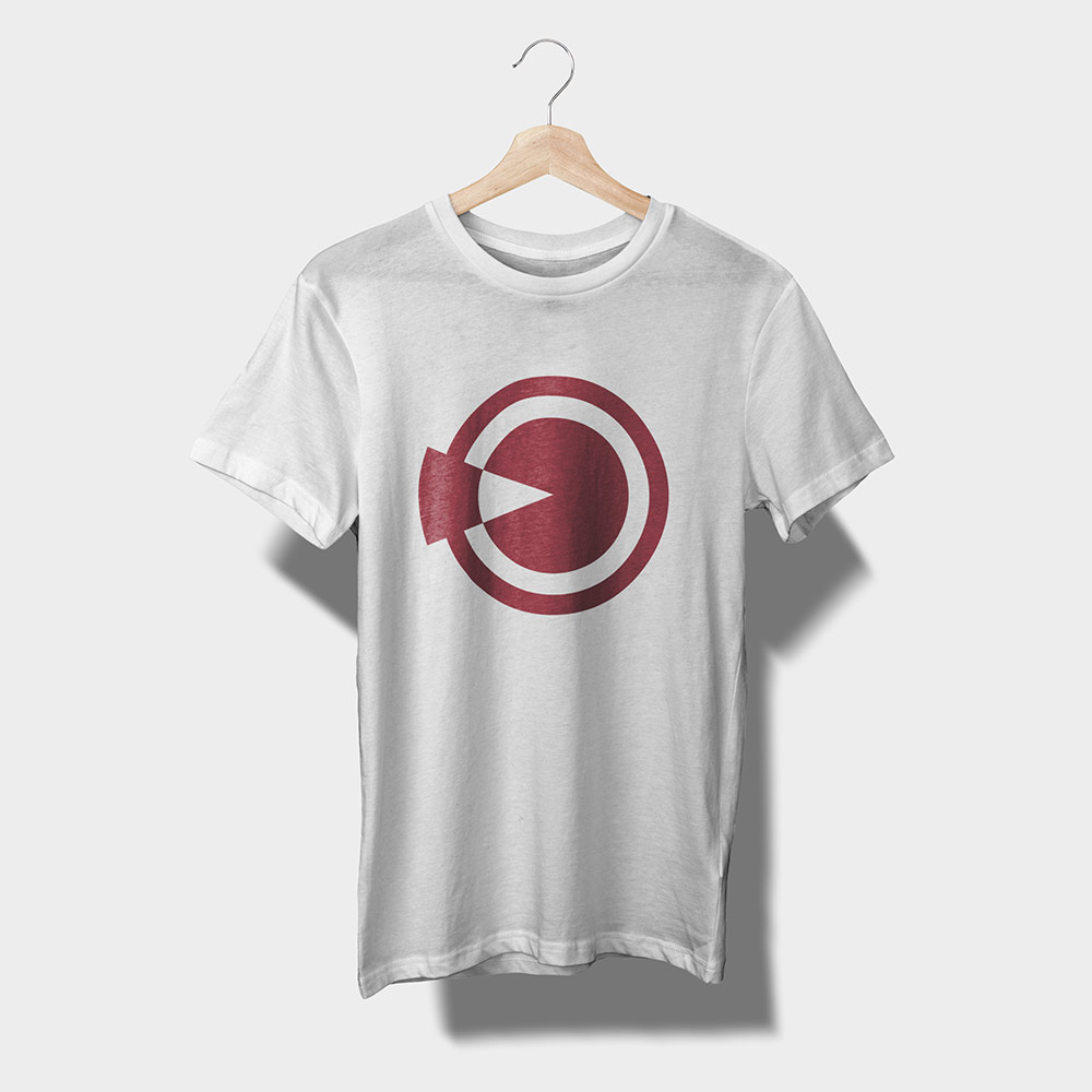Staff t-shirt design in white and red