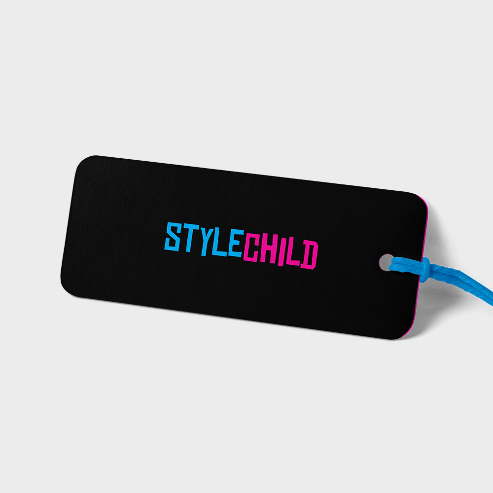 A tag design showing the StyleChild logo